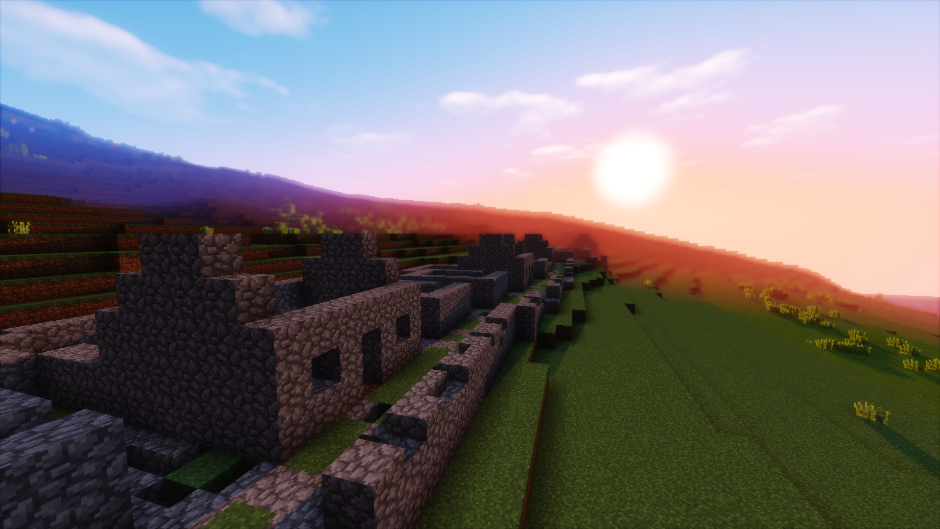 A Minecraft version of the abandoned village on Hirta