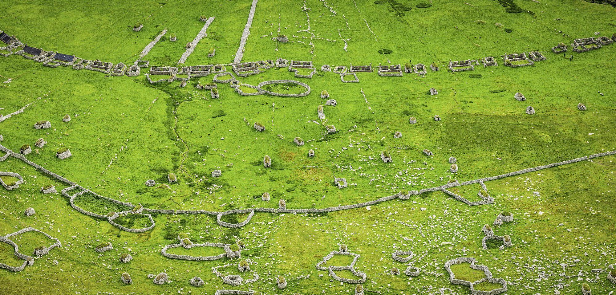 Ancient village cleats walls St Kilda World Heritage Site Scotland
