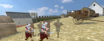 Video game footage of Romans