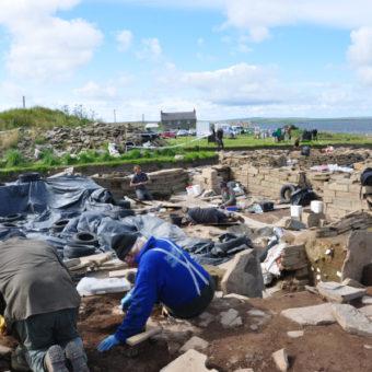 A dig site