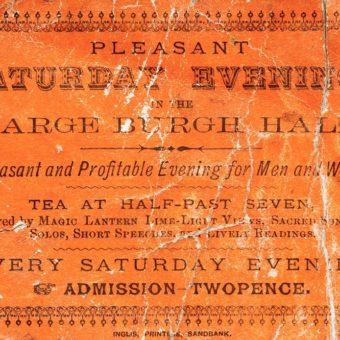 Old orange ticket