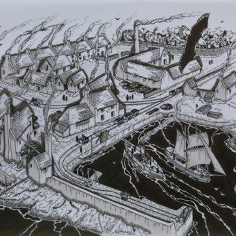 Birds Eye View Cockenzie Harbour (c) Battle of Prestonpans 1745 Heritage Trust