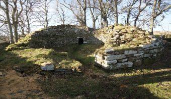Overgrown Iron Age broch ruin