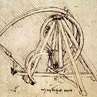 Leonardo Da Vinci's design for a catapult.