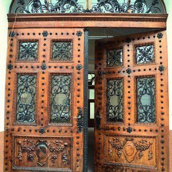 General photograph of an open door